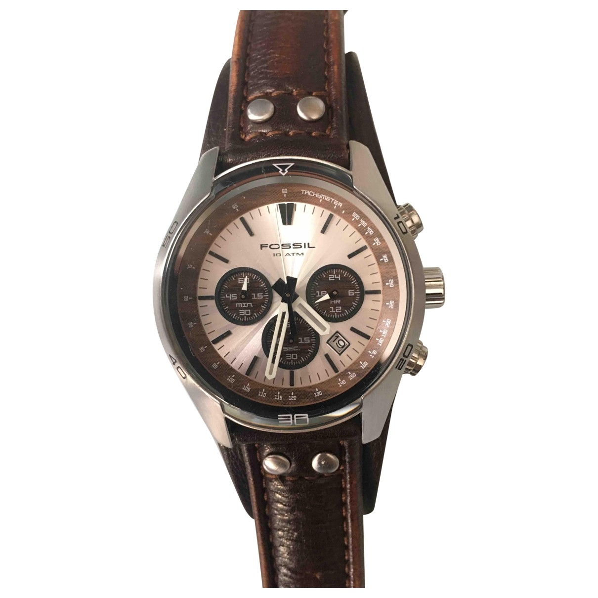 Fossil \N Brown Steel watch for Men \N