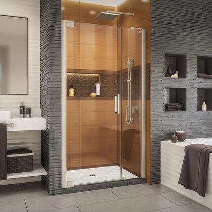 SHDR-4327120-04 Elegance-LS 37 - 39 W x 72 H Frameless Pivot Shower Door in Brushed