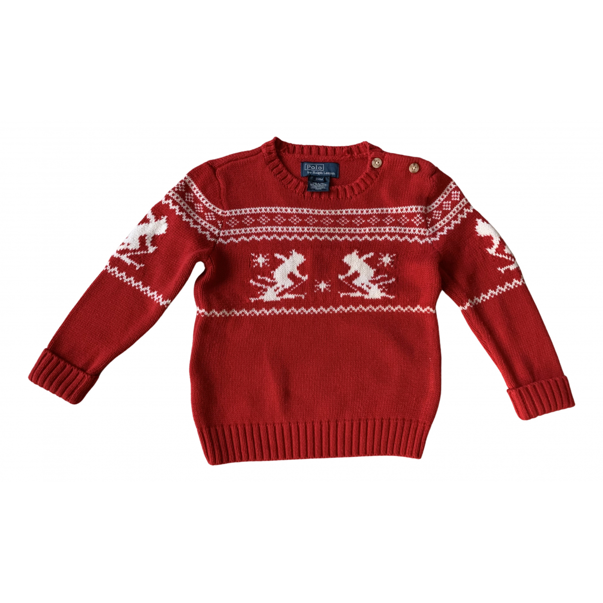 Polo Ralph Lauren N Red Cotton Knitwear for Kids 2 years - up to 86cm FR