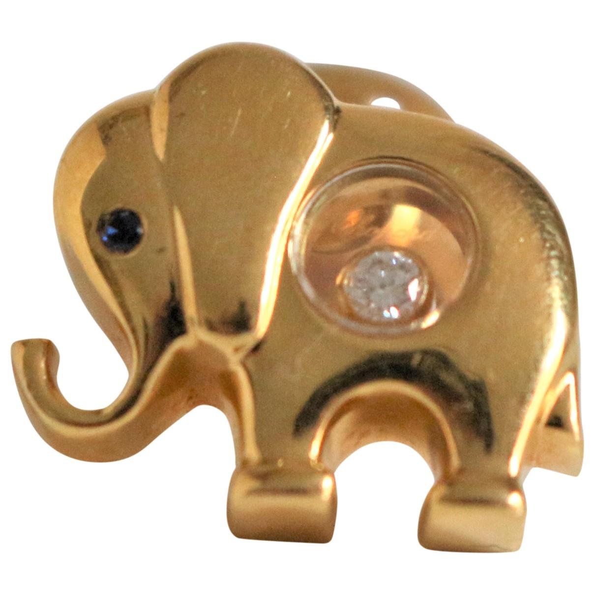 Broche Happy Diamonds de Oro amarillo Chopard