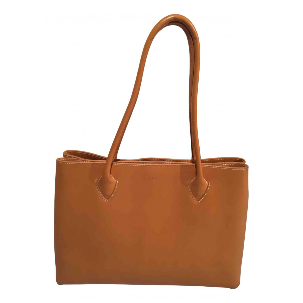 Furla \N Handtasche in  Beige Leder