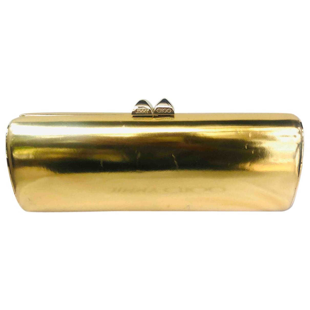Jimmy Choo \N Clutch in  Gold Lackleder