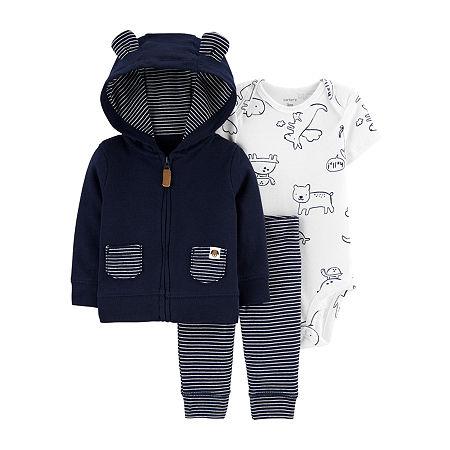 Carter's Baby Boys 3-pc. Clothing Set, Newborn , Blue