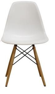 Azzo Collection DC-231A-WHITE Plastic Mid-Century Modern Shell Chair in White (Set of