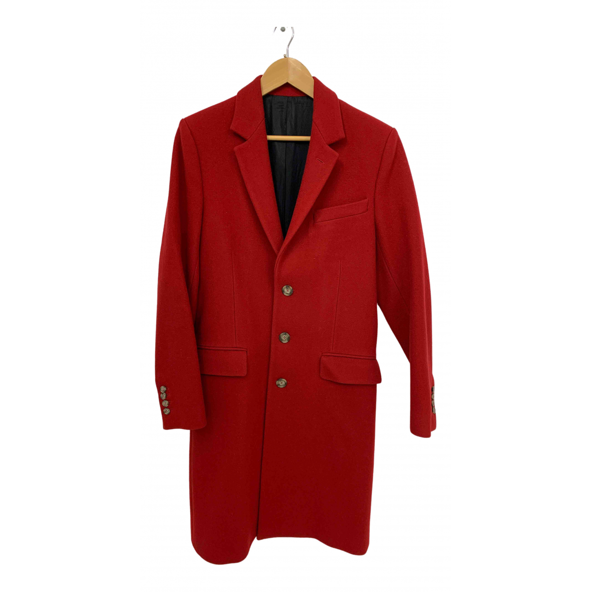 Ami \N Red Wool coat  for Men 44 FR