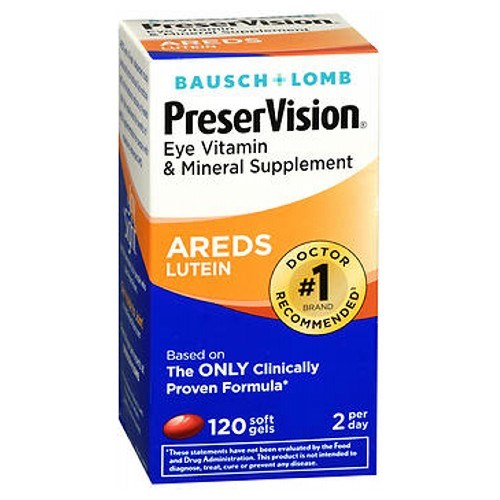 Bausch And Lomb Preservision Eye Vitamin And Mineral Supplements Lutein Softgels 120 sgels by Bausch And Lomb
