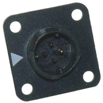 Hirose Connector, 4 contacts Panel Mount Miniature Socket, Solder IP67, IP68