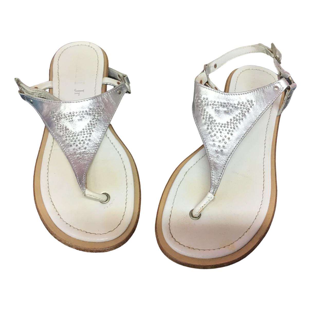Armani Jeans \N Silver Leather Sandals for Women 38 EU