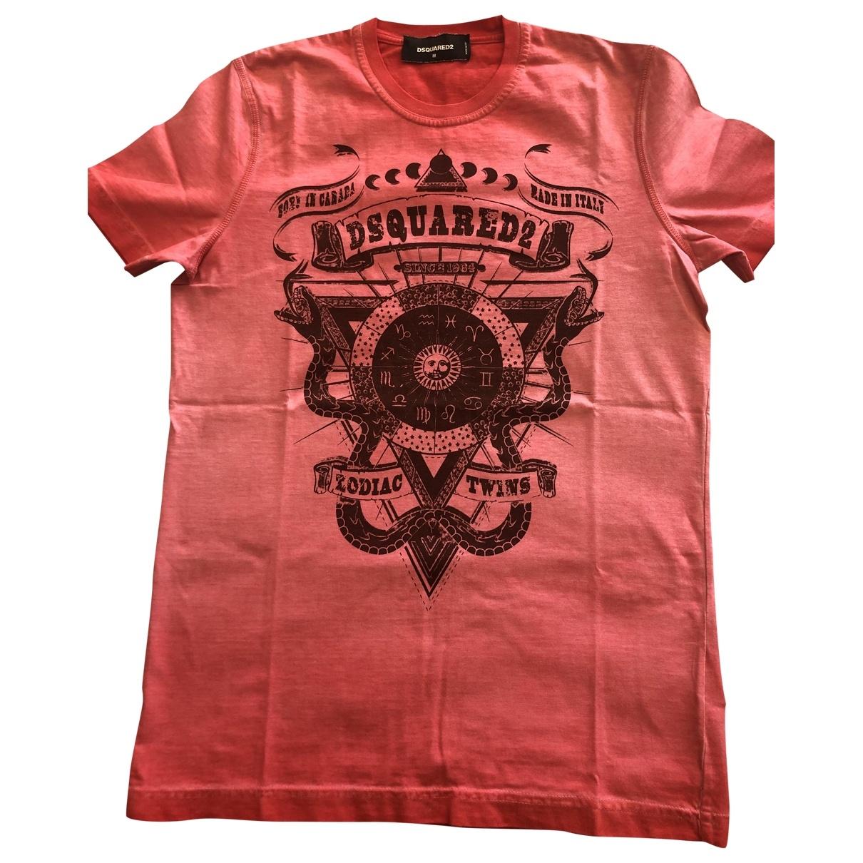 Dsquared2 \N Pink Cotton T-shirts for Men M International