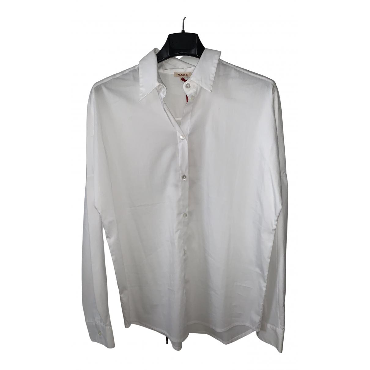 Parosh - Top   pour femme en coton - blanc
