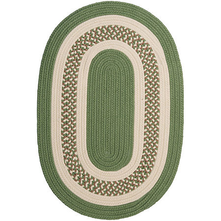 Colonial Mills Lighthouse Reversible Braided Indoor/Outdoor Oval Rug, One Size , Green