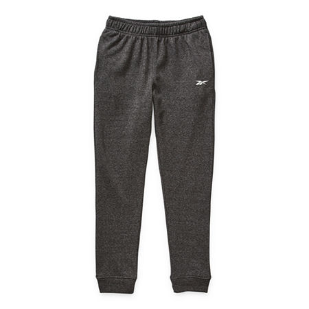 Reebok Boys Cuffed Sweatpant, X-large (18-20) , Black