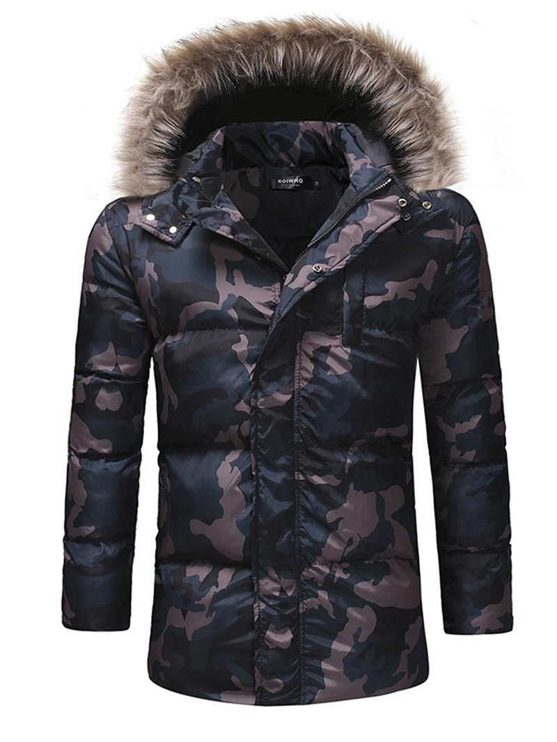 Ericdress Mid-Length Hooded European Men's Down Jacket