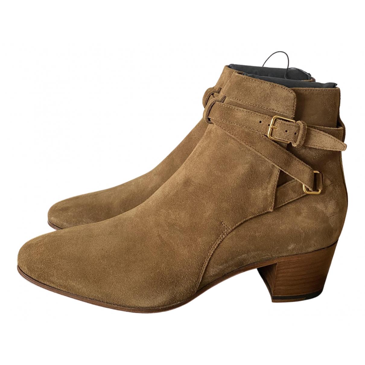 Saint Laurent Blaze Brown Suede Ankle boots for Women 41 EU