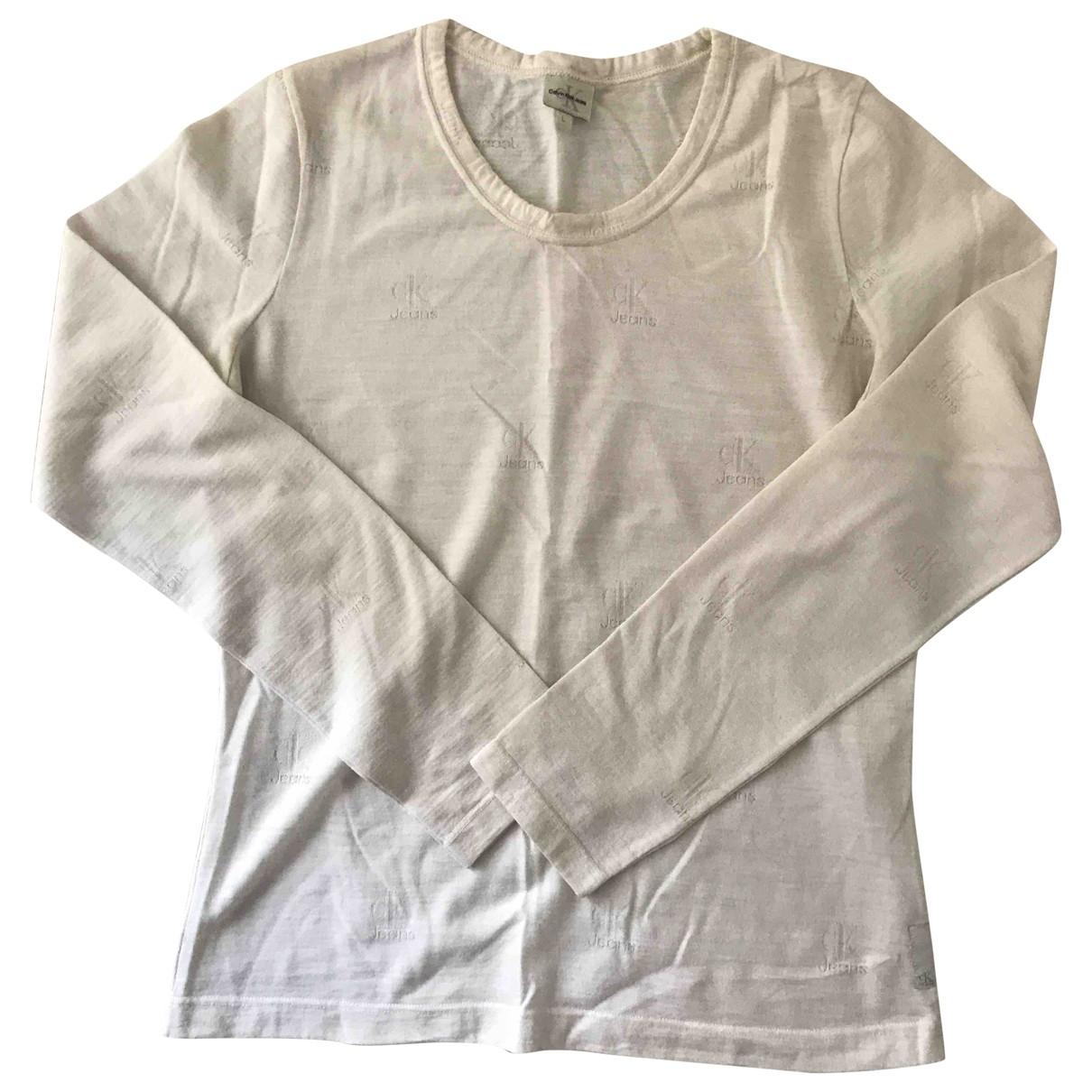 Calvin Klein \N Top in  Beige Baumwolle