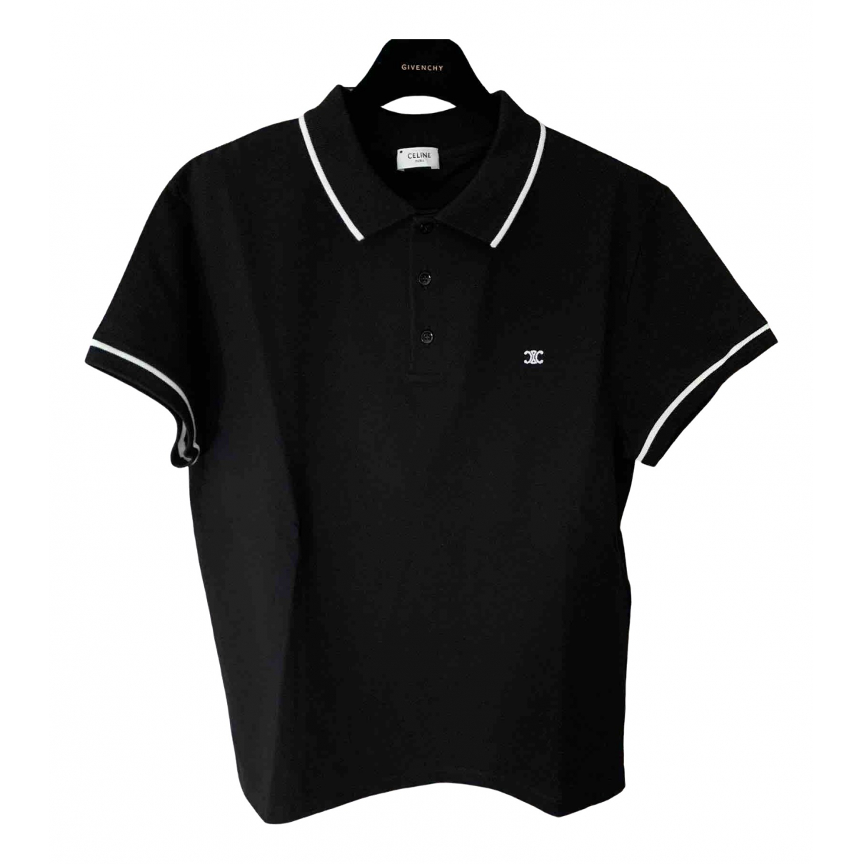 Celine \N Black Cotton Polo shirts for Men XL International
