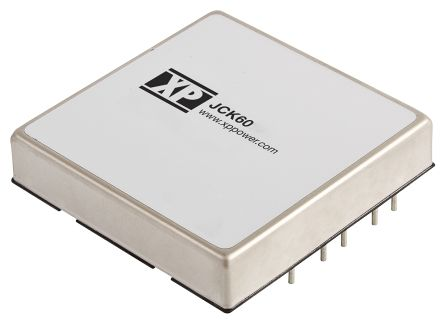XP Power JCK 60W Isolated DC-DC Converter Through Hole, Voltage in 18 → 36 V dc, Voltage out 5V dc