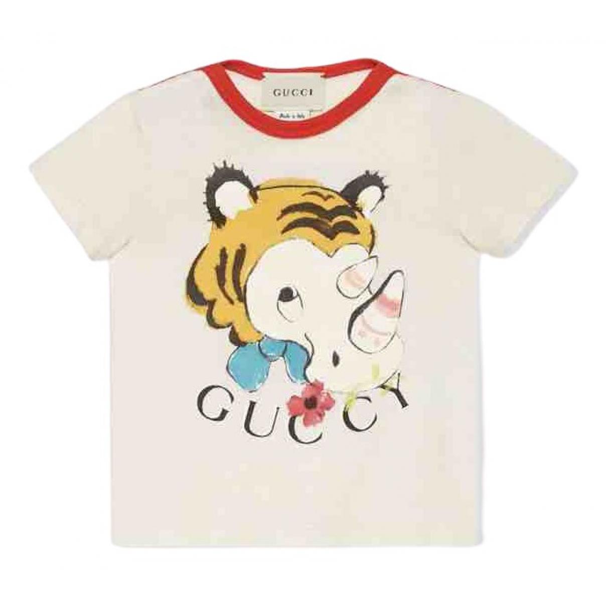 Gucci - Top   pour enfant en coton - beige