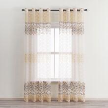 Transparenter Vorhang mit Grafik Muster