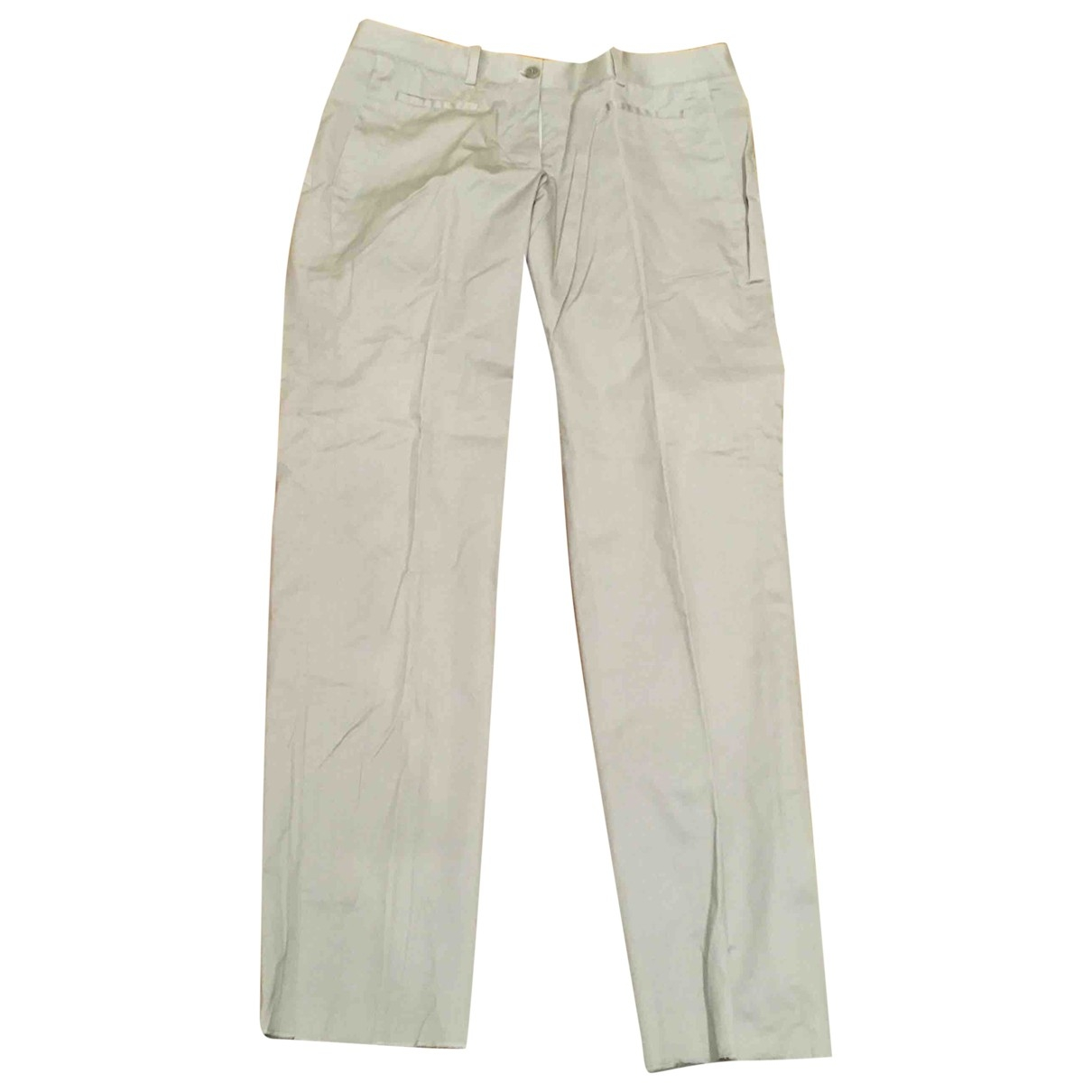 Neil Barrett \N Ecru Cotton Trousers for Women 40 IT