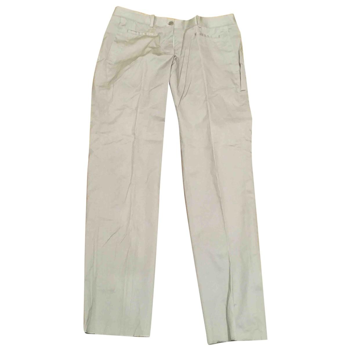 Neil Barrett \N Ecru Cotton Trousers for Women 40 IT