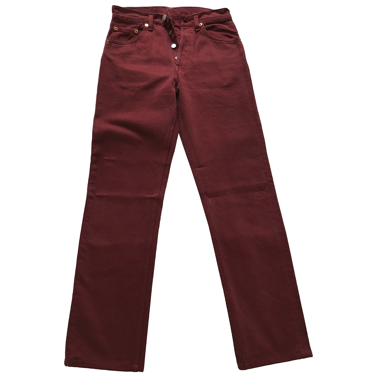 Levi's Vintage Clothing \N Red Cotton Jeans for Women 27 US