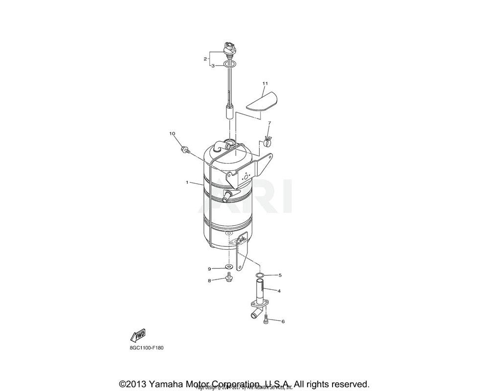 Yamaha OEM 8GC-85720-00-00 OIL LEVEL GAUGE ASSY