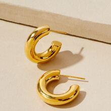 Metal Cuff Hoop Earrings