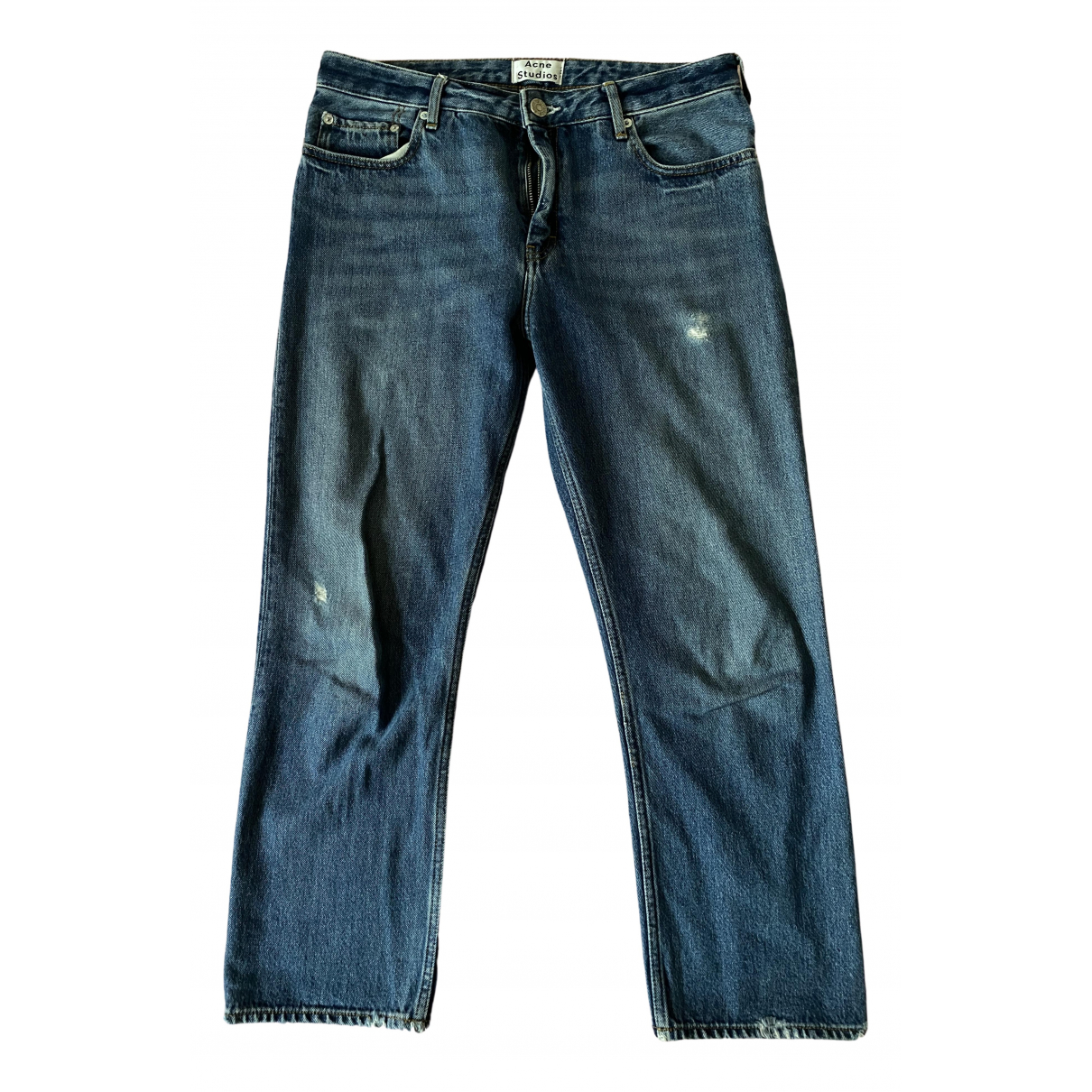 Acne Studios Pop Blue Cotton Jeans for Women 36 FR
