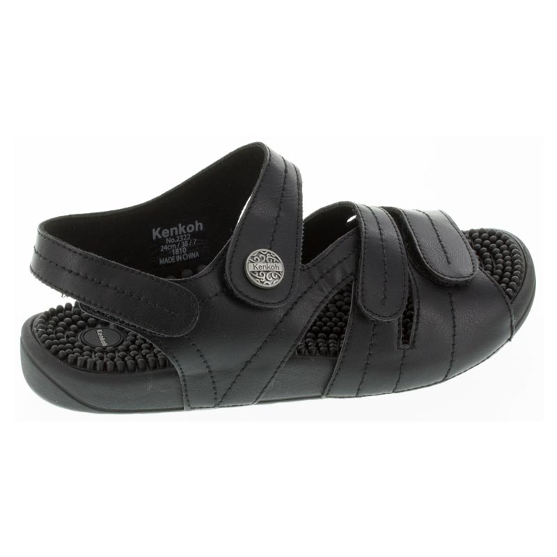 Kenkoh Essence Black Massage Sandal 25