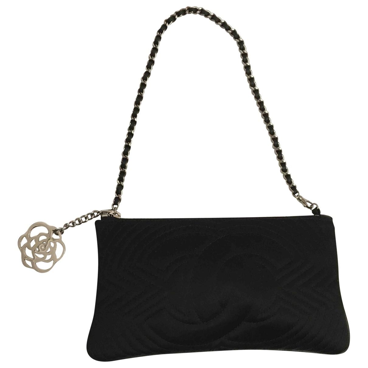 Chanel - Sac a main   pour femme en soie - noir