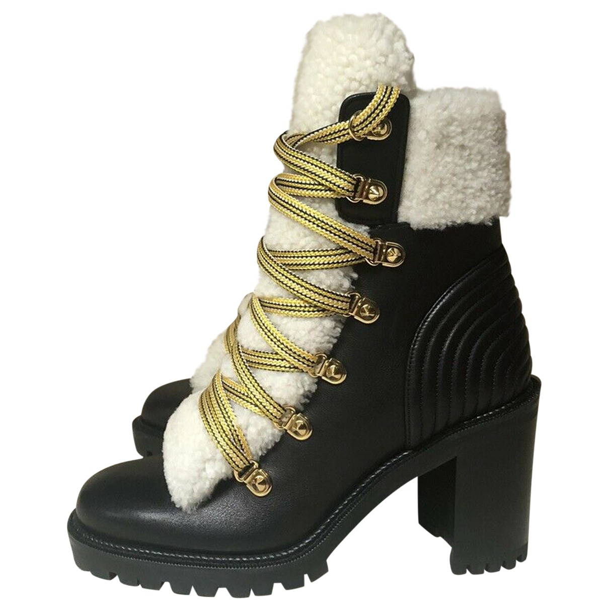 Christian Louboutin \N Black Leather Ankle boots for Women 41.5 EU