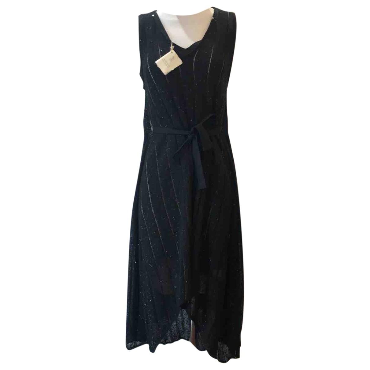 Brunello Cucinelli N Black Linen dress for Women M International