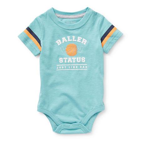 Okie Dokie Baby Boys Bodysuit, 6 Months , Blue