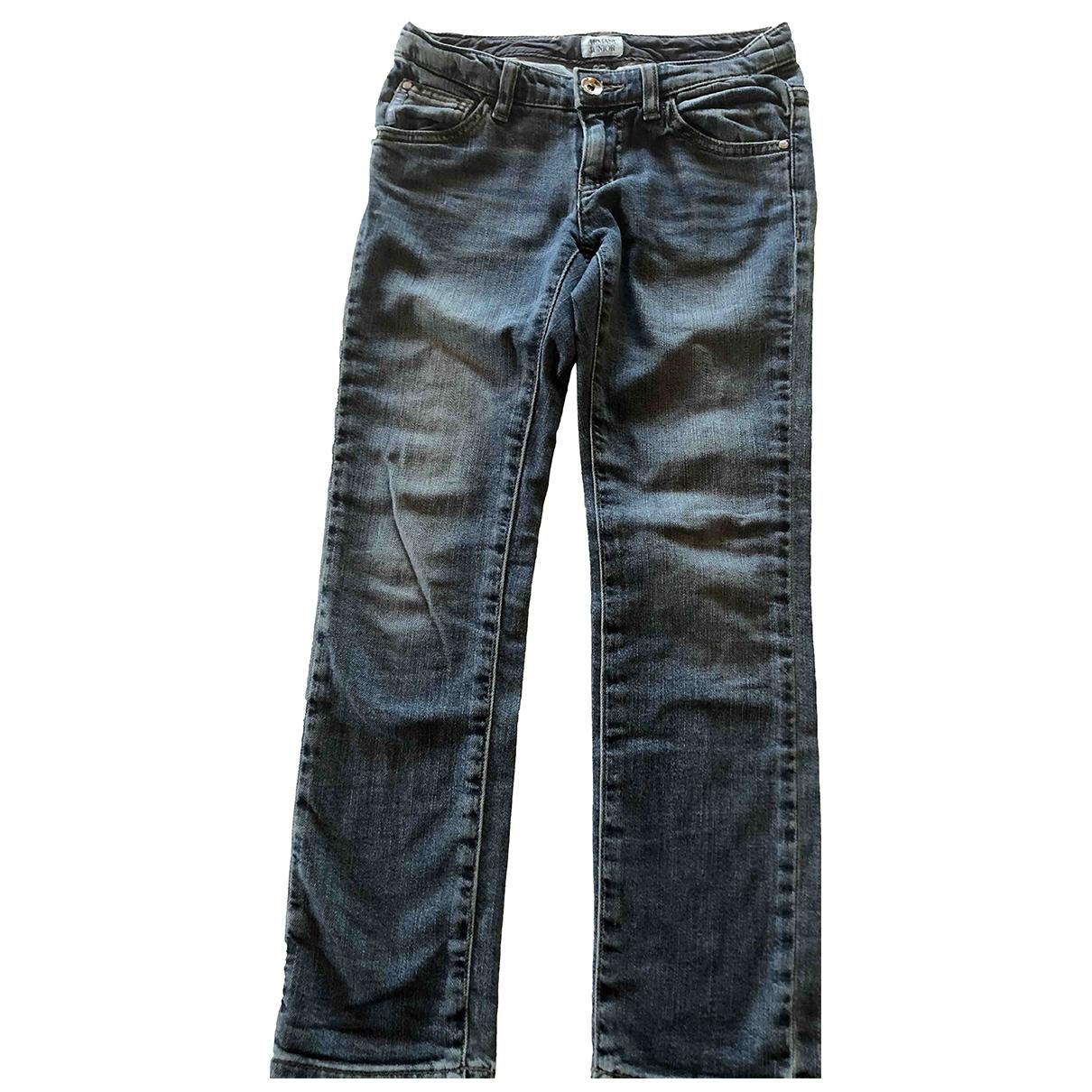 Armani Baby - Pantalon   pour enfant en denim - bleu