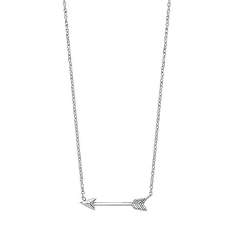 Womens 14K White Gold Pendant Necklace, One Size , No Color Family