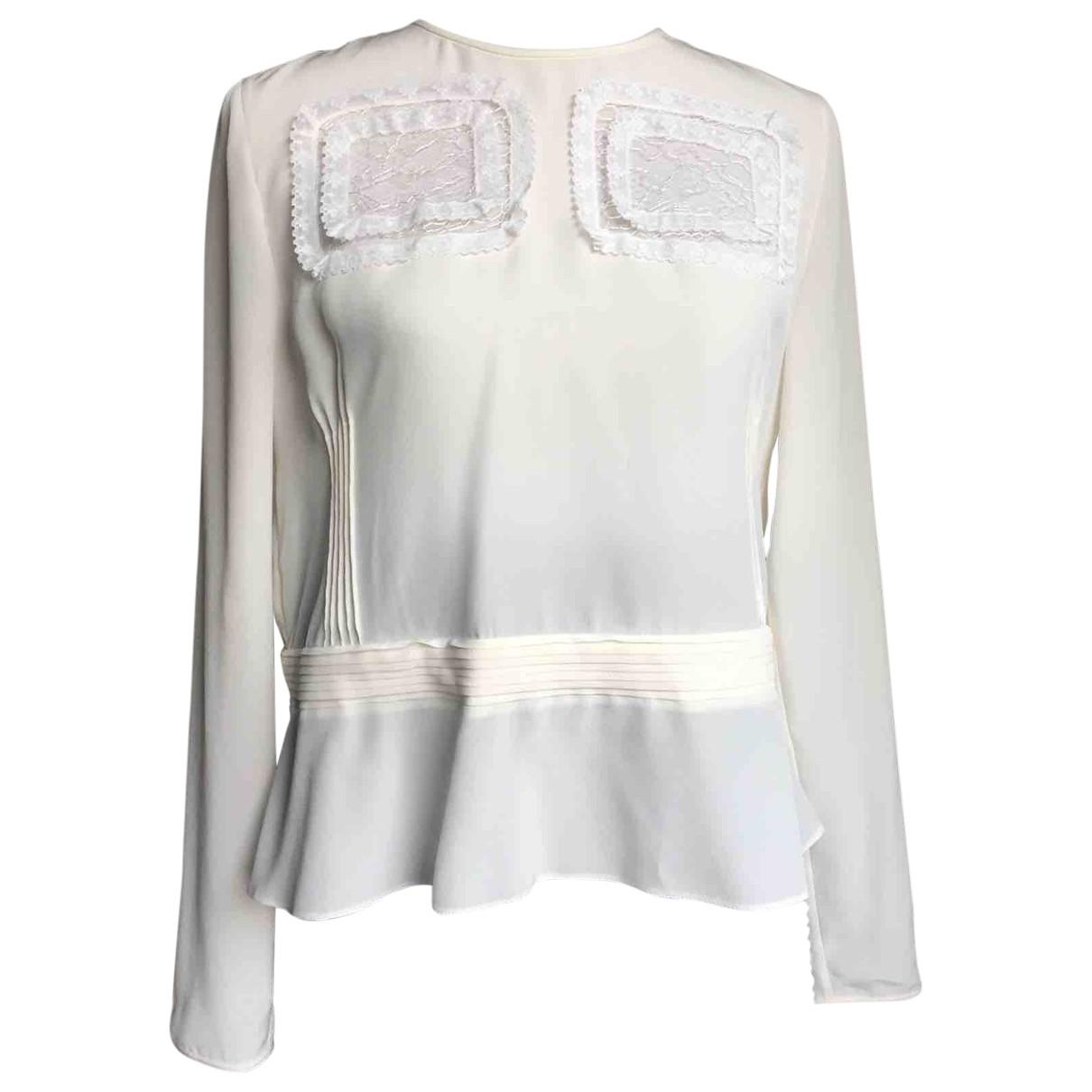 Rochas - Top   pour femme en soie - blanc