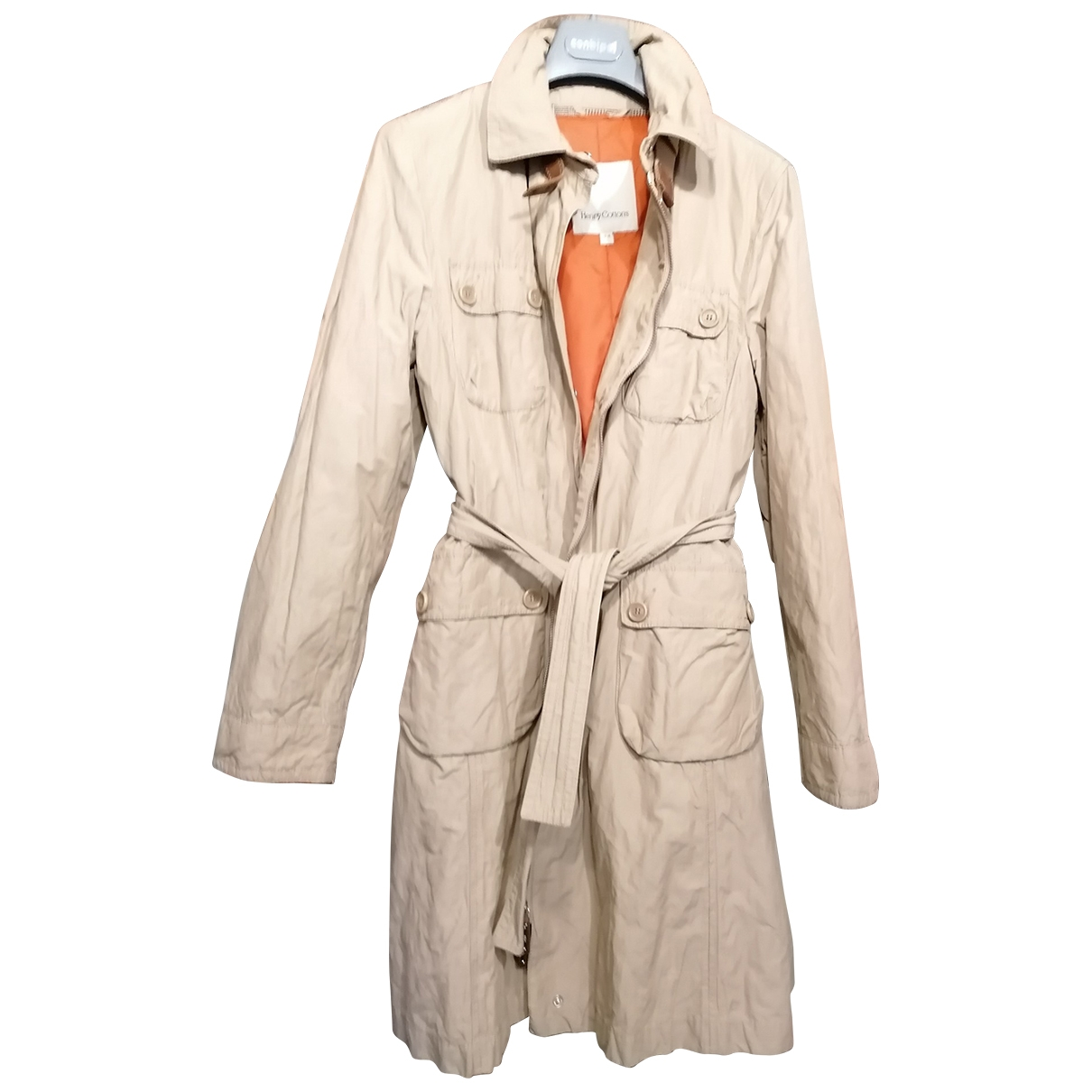 Henry Cotton \N Trench in  Beige Baumwolle