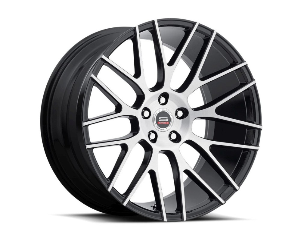 Spec-1 SPL-201 Wheel Luxury Series 20x10.5 Blank 42mm Gloss Black Brushed