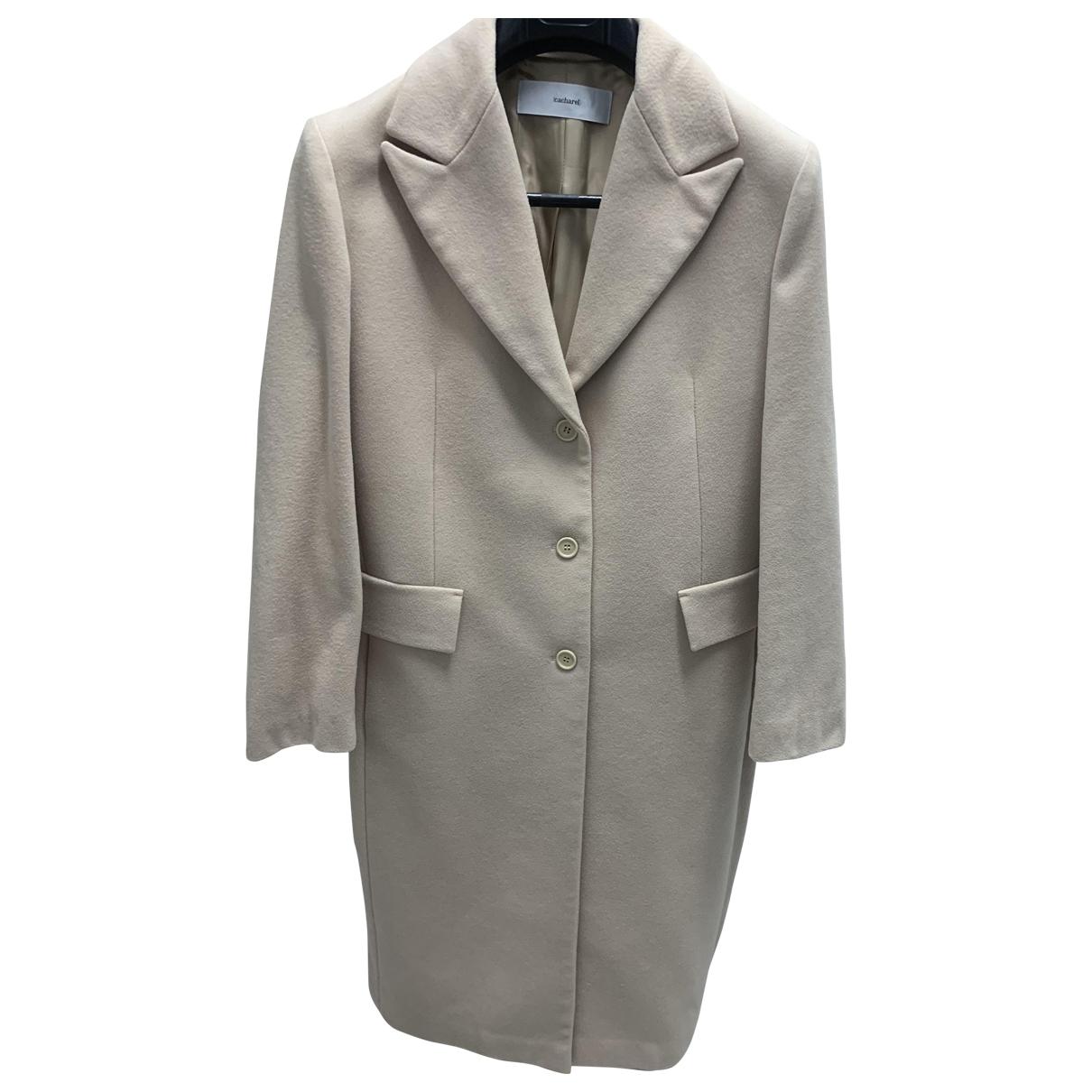 Cacharel - Manteau   pour femme en laine - camel