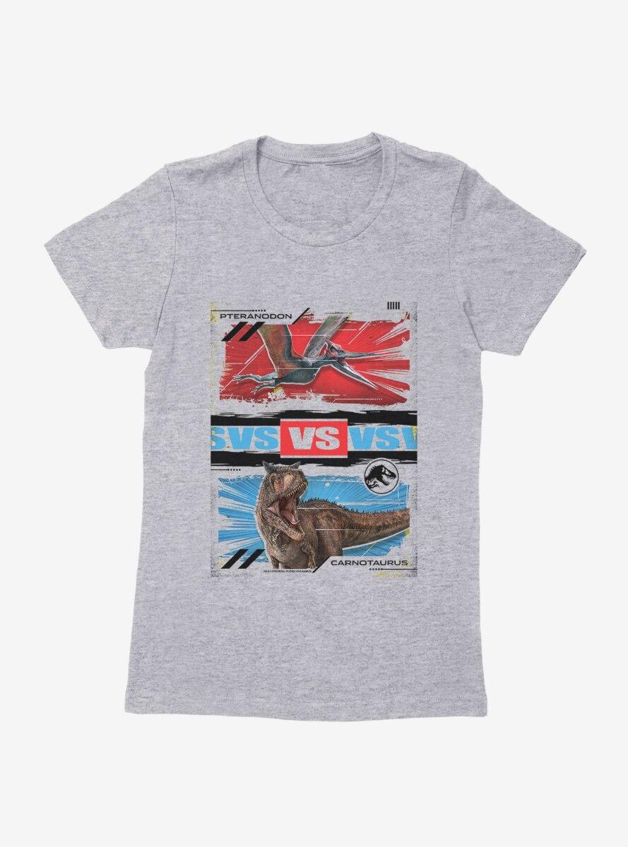Jurassic World Pteranodon Versus Carnotaurus Womens T-Shirt