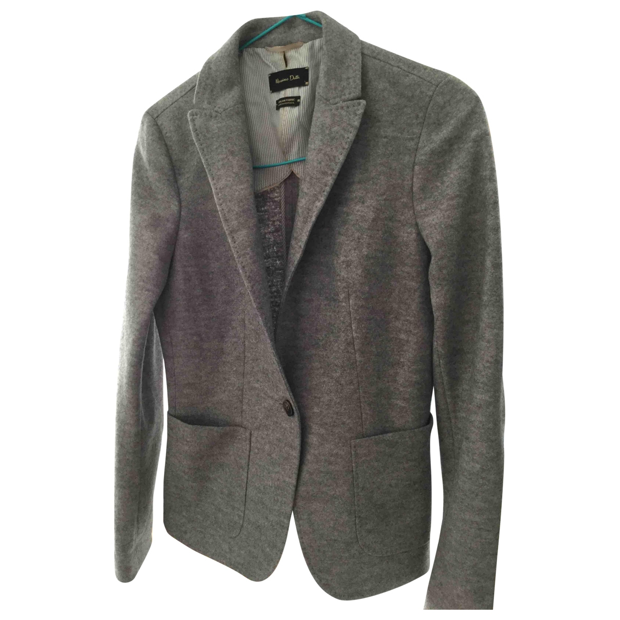 Massimo Dutti \N Jacke in  Grau Wolle