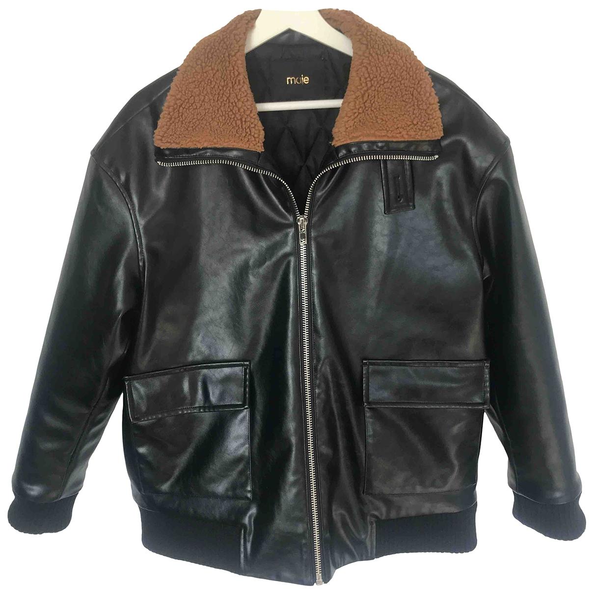 Maje \N Black Faux fur jacket for Women 2 0-5