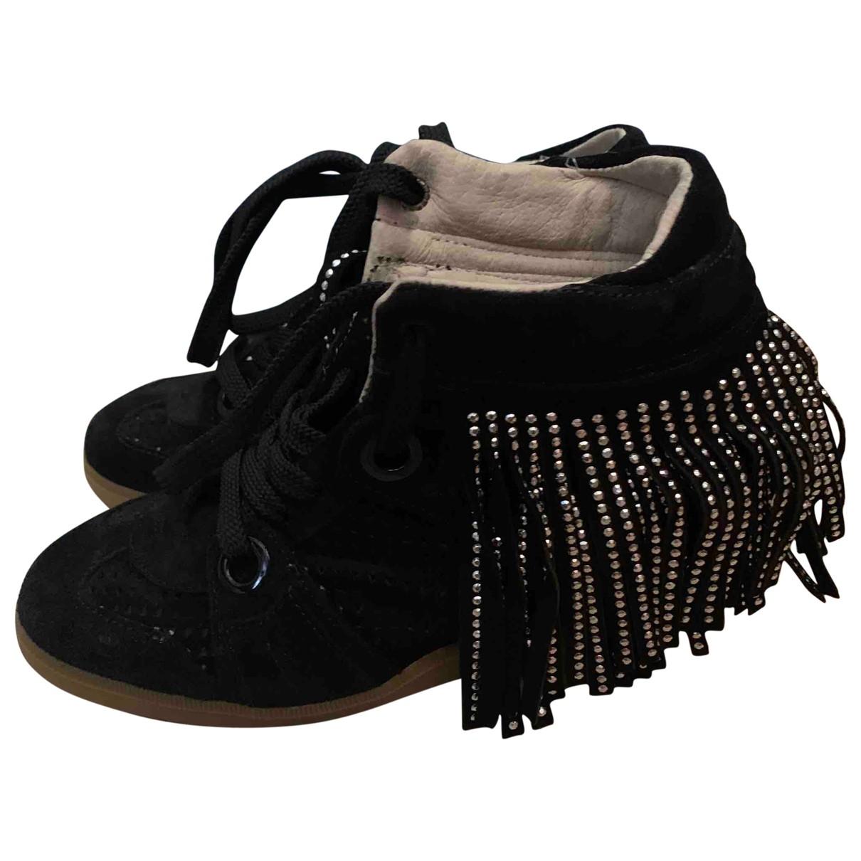 Serafini - Baskets Manhattan pour femme en cuir - noir
