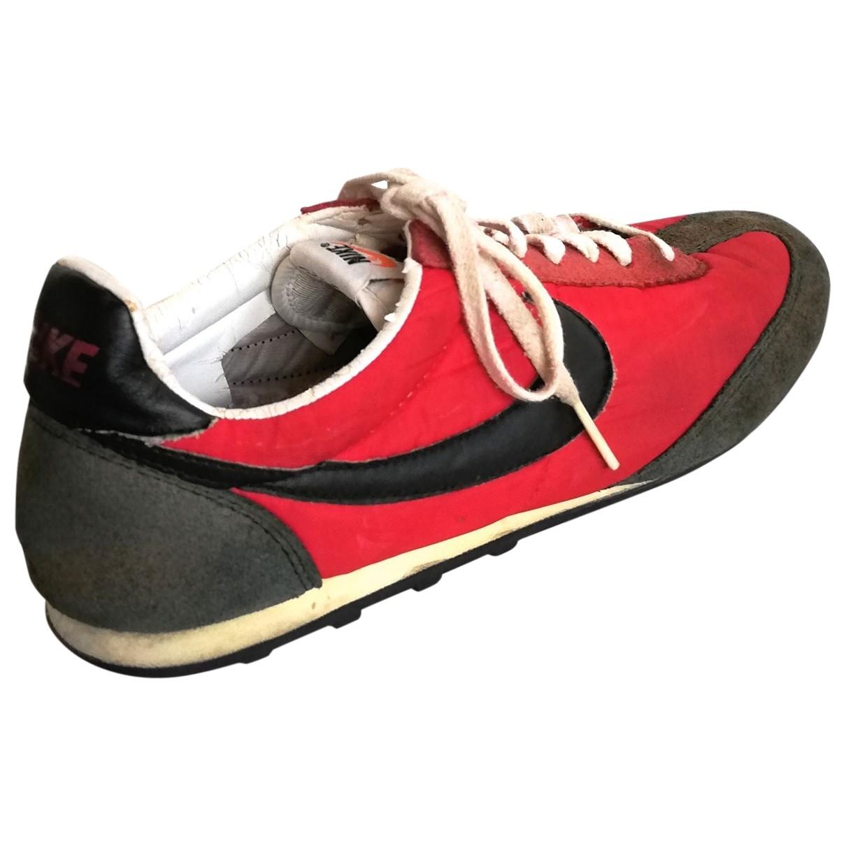 Nike - Baskets   pour homme en toile - rouge