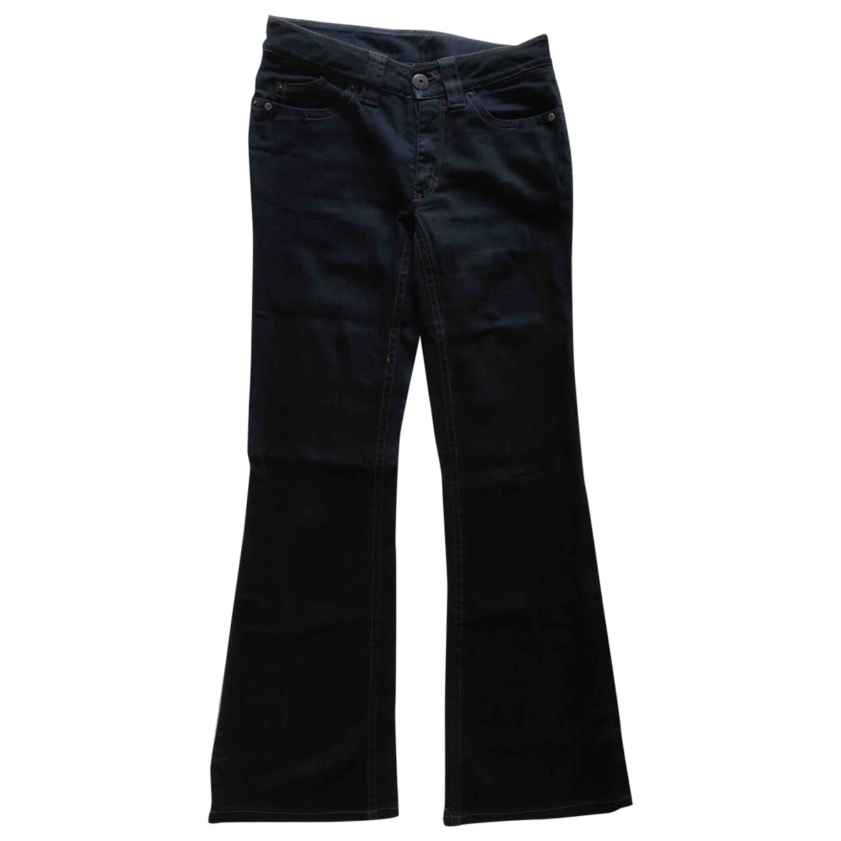 Sport Max \N Blue Cotton - elasthane Jeans for Women 36 FR