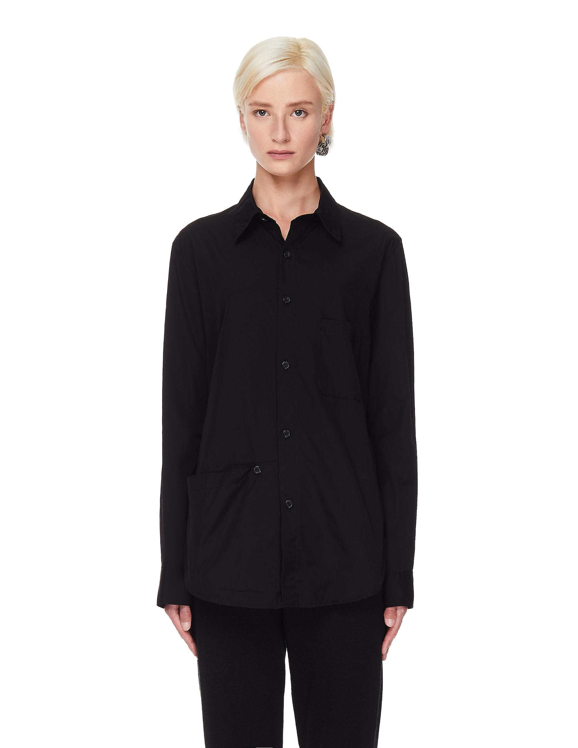 Ys Black Shirt With Pockets
