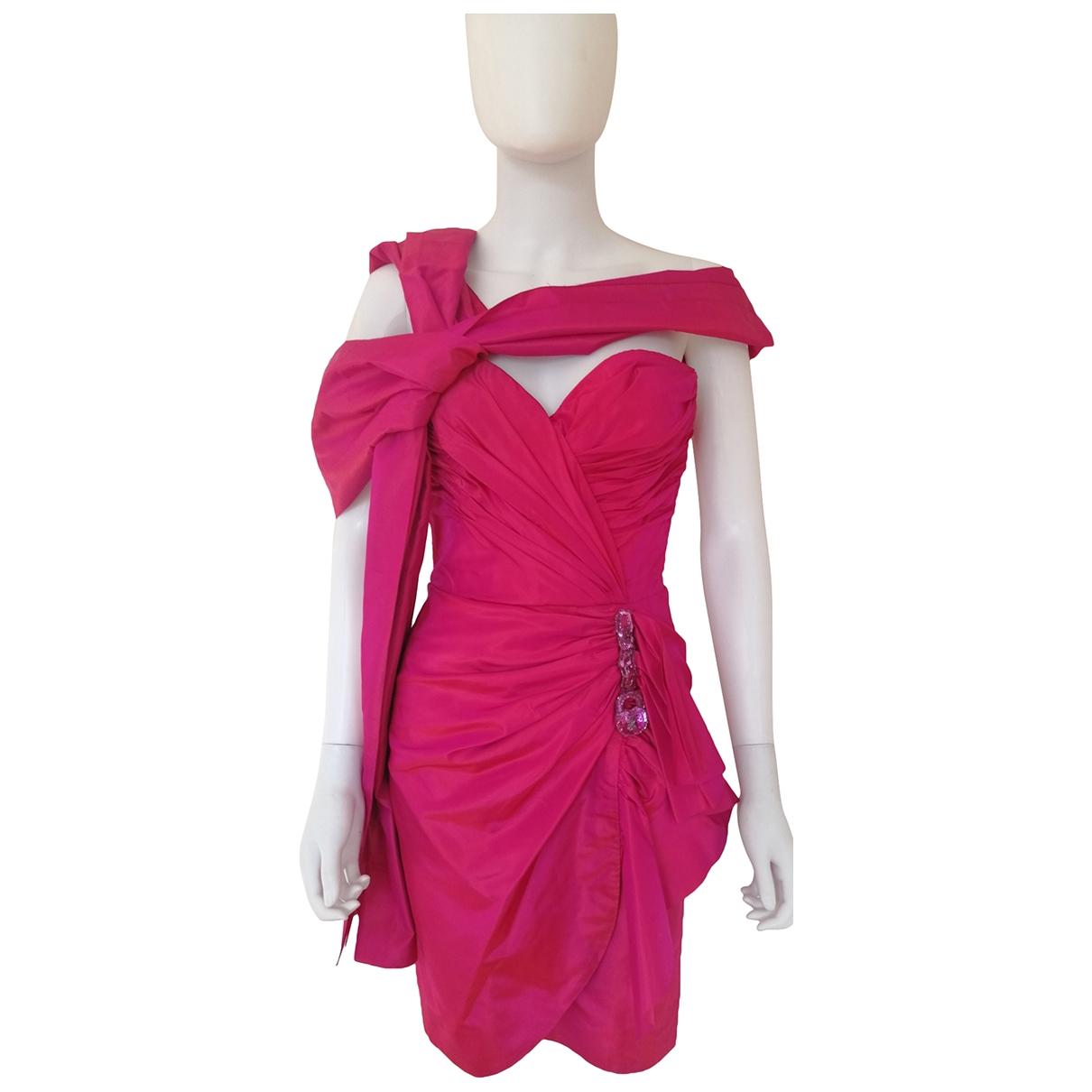 Loris Azzaro - Robe   pour femme en soie - rose