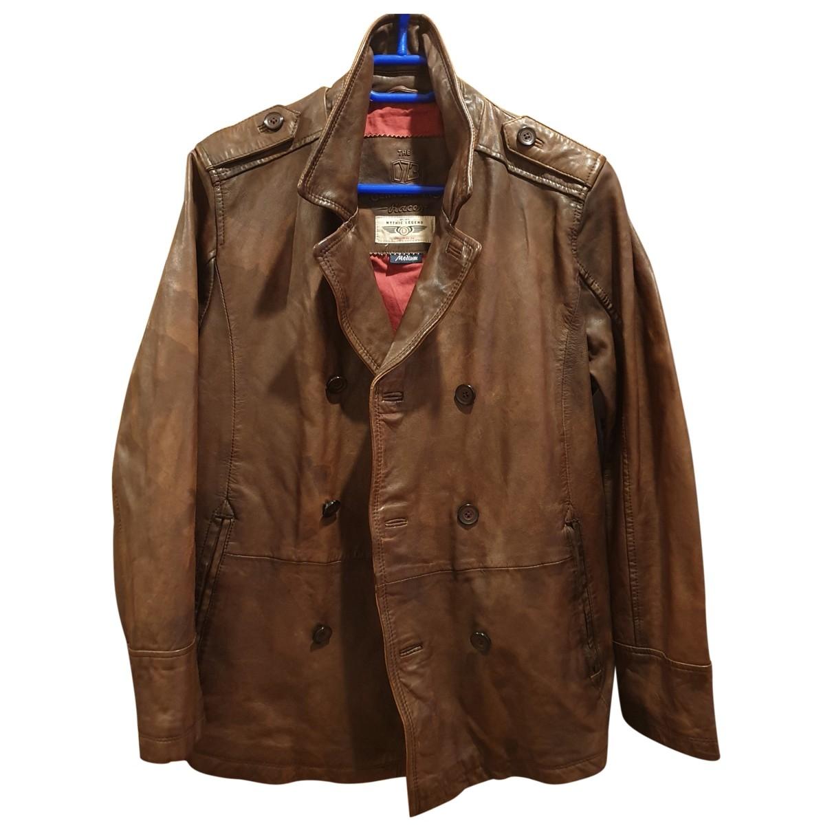 Daytona - Vestes.Blousons   pour homme en cuir - marron