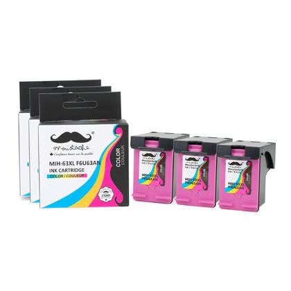 Compatible HP 63XL F6U63AN cartouche d'encre tri-couleur - haut rendement de HP 63 encre couleur - Moustache - 3/paquet
